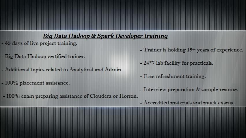 Big Data Hadoop Development And Spark Online Training In Hyderabad